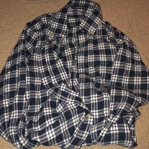 brandy Melville blue, gray, white flannel